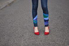 DIY jeans, DIY painted jeans, DIY trousers, DIY denim
