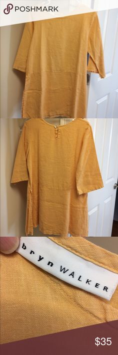 """Bryn Walker tunic Bryn Walker tunic top with slits on the side. Worn 4 times. 100% linen . Made in USA! Length 30 1/2"""" with a 14"""" slit up the side from bottom. Machine wash. So versatile. Smoke and pet free home. EUC Bryn  Walker Tops Tunics"""