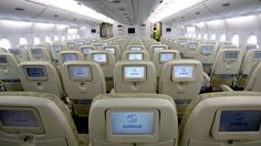 Seat squeeze in economy class getting worse. Emirates is reportedly looking at squeezing an extra seat per row into its superjumbo economy class. Travel Expert, Travel News, Travel Pro, Plane Seats, Airplane Design, Choose Wisely, Flight Attendant, Proposal, Saving Money
