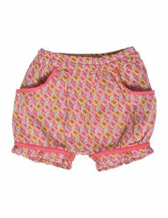 Shorts i bomuldscrepe - Koral