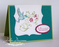 Julies Stamping Spot -- Stampin Up! Project Ideas Posted Daily: Last Chance Favorites: Five Elements of Style Cards