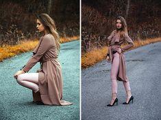 Get this look: http://lb.nu/look/8482605  More looks by Marcelline: http://lb.nu/madame_marcelline  Items in this look:  Sheinside Coat, Stradivarius Pants   #chic #elegant #romantic #autumn #ootd #streetwear #street #coat #cardigan