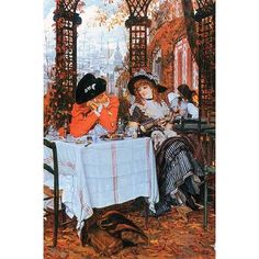 Buyenlarge 'Breakfast' by James Tissot Painting Print Size: