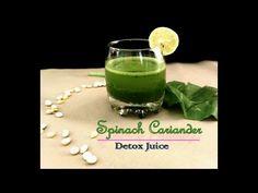 Spinach Coriander Detox Juice | Spinach Cilantro Detox Juice | Weight Loss Drink - YouTube