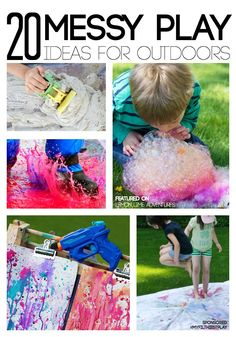 Messy Play Ideas for Outdoors