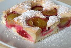 Egyszerű szilvás sütemény | NOSALTY Doughnut, French Toast, Food And Drink, Baking, Breakfast, Cake, Sweet, Recipes, Bakken