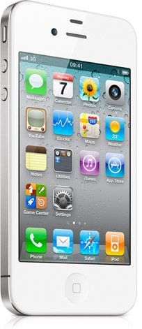 White iphone4.