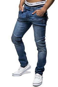 Shop Leif Nelson Men's Trousers Blue Blue / Free delivery and returns on eligible orders. Jeans Pants, Denim Jeans, Trousers, Casual Jeans, Casual Outfits, Fashion Outfits, Leif Nelson, Mode Online, Slim Fit
