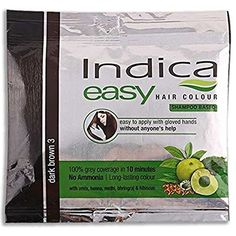 50 Pc Indica Easy10 Minutes Herbal Hair Color Shampoo Base Dark Brown Herbs >>> You can get additional details at the image link. #hairrepair