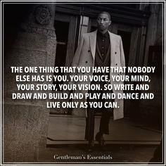 Be Yourself www.gentlemans-essentials.com