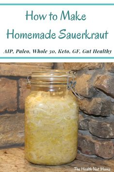 Learn how to make Homemade Sauerkraut. So easy & only 3 ingredients. Natural Probiotics to heal Leaky Gut! Better than store bought & way cheaper to make yourself. Salad Recipes Gluten Free, Diet Recipes, Healthy Recipes, Homemade Sauerkraut, Fitness Models, Paleo Sauces, How To Make Homemade, Leaky Gut, Fermented Foods