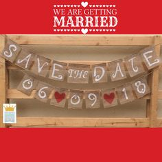 Save The Date Wedding Burlap Banner Wedding by QueensBanners