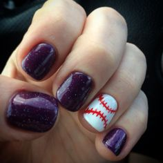 My new baseball nails! Opening Day! Colorado Rockies! My nail lady is amazing!