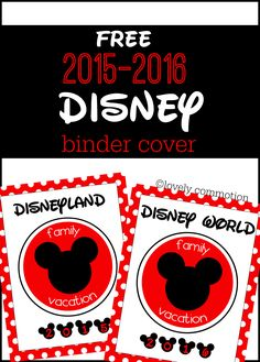 Perfect binder for your Disney Vacation planner!  | Printable |