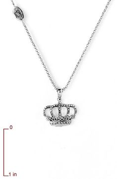 Wish - Silver Crown Necklace from Juicy Couture