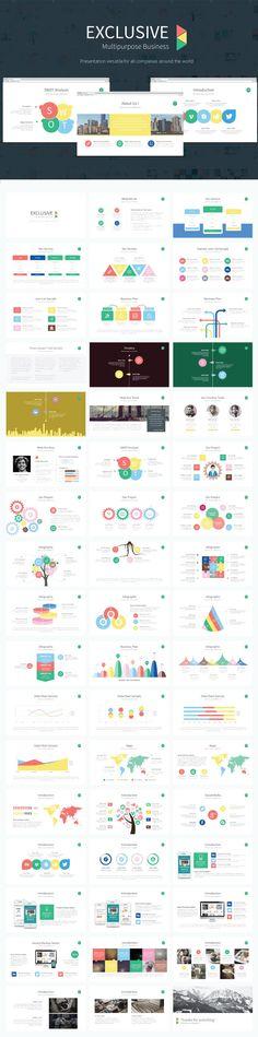 Exclusive Presentation PowerPoint Template  #minimal #elegant • Download ➝ https://graphicriver.net/item/exclusive-presentation-powerpoint-template/18435917?ref=pxcr
