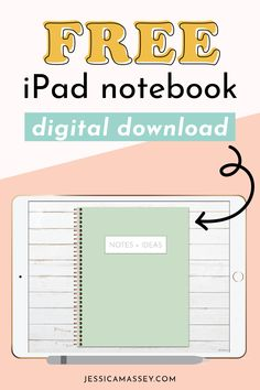 FREE Landscape Digital Notebook & Bullet Journal with Dotted, Lined & Graph Paper