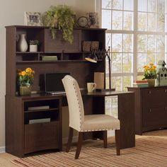Buena Vista Corner Desk With 60-inch Hutch And Lateral File