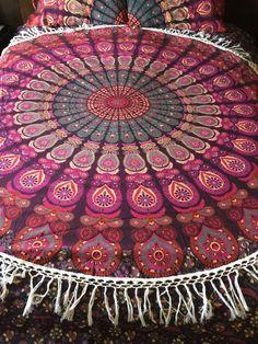 Round beach throw wall tapestry roundie by TheFoxAndTheMermaid