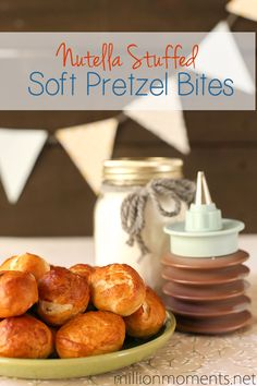Nutella stuffed pretzel bites