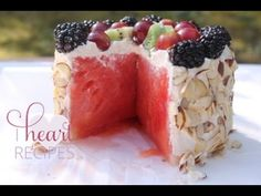 impressive Fresh Watermelon Cake - I Heart Recipes