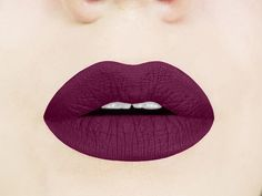Shop here for black cherry liquid lipstick that goes on like a lip gloss and dries to a matte, dark cherry color that lasts for hours.