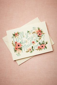 Blooming Maid of Honor Card from BHLDN