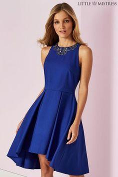 af006f6ad0 Buy Little Mistress Embellished Neck Dress from the Next UK online shop  Electric Blue Dresses