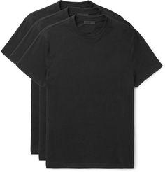 $260 - Prada Three-Pack Cotton-Jersey T-Shirts - EVERYSTORE