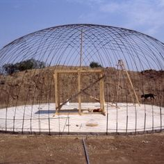 A rebar dome, the first step to a Bob Foote style ferrocement under ground home.