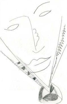 'Vortex Face' - sketch