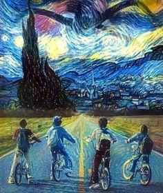 Stranger Things x Starry Night