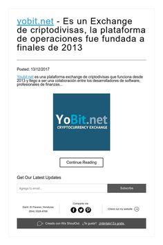 yobit.net - Es un Exchange de criptodivisas, la plataforma de operaciones fue fundada a finales de 2013