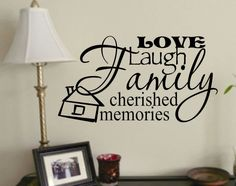 Vinyl Wall Lettering Words Quotes Phrases Decals Collage Family
