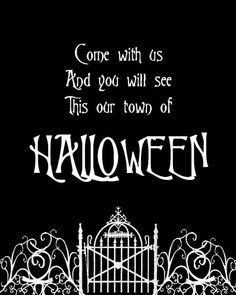 "Free Halloween Town Printable - If you love The Nightmare Before Christmas, you will love displaying this Halloween Town printable in your home for Halloween! ""This is Halloween, this is Halloween..."""