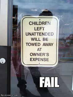 Children towed away