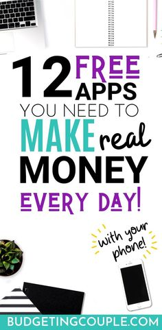 Want to make free money from your phone *every day*? Check out the 12 free money making apps you need to start an easy side hustle idea that pays you Earn More Money, Earn Money From Home, Earn Money Online, Make Money Blogging, Way To Make Money, Online Jobs, Money Tips, Money Saving Tips, Best Money Making Apps