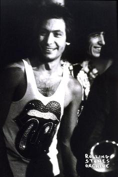 Charlie Watts and Bill Wyman Somewhere in Europe Autumn 1973