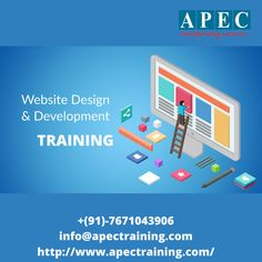 Web Designing training is very popular these days, as it offers a promising career as web solutions are applied in industries, business, education and public sector.  It is the design of web pages, websites and web applications used by companies to promote their business and corporate agencies to market several products to the customers.  Most of the companies wishing to create their own web sites look for skilled and qualified web designers. Ui Developer, Web Design Training, Online Training Courses, Classroom Training, Best Computer, Business Education, Career Goals, Web Application, Web Development