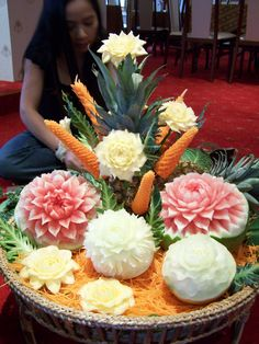 Fruit sculpture from Thaïland.