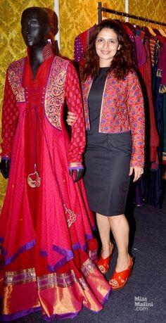 Shruti Sancheti <3 Pakistani Dresses, Indian Dresses, Indian Outfits, Dress Neck Designs, Saree Blouse Designs, Frocks And Gowns, Shrug For Dresses, Indian Designer Suits, Denim Ideas