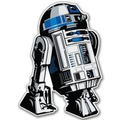 Star Wars Astromech Droid R2-D2 Vynil Car Sticker Decal - Select Size