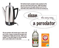 How to clean an electric coffee percolator.