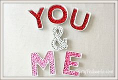 Ceramic Letter Candy Dishes by PartyPatisserie on Etsy, $13.99