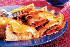 Kijk wat een lekker recept ik heb gevonden op Allerhande! Gebakken maïstortilla's met kaas