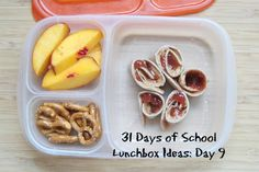 31 Days of School Lunchbox Ideas: Day 9 Lunch Box Recipes, Lunch Snacks, Lunch Ideas, Kid Snacks, Yummy Recipes, Whats For Lunch, Lunch To Go, School Lunch Box, School Lunches