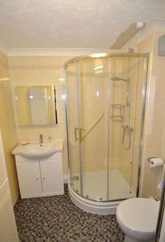 corner shower small bathroom layout |
