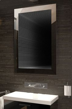 Led Infinity Mirror, Infinity Lights, Led Mirror, Wall Mounted Mirror, Mirror Decor Living Room, Led Lighting Solutions, Illuminated Mirrors, White Mirror, Mirror Cabinets
