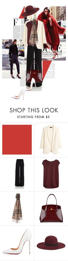 """""""Djamila Del Pino Hits the Streets for Vogue Mexico by Elena Bofill"""" by mariealisee ❤ liked on Polyvore featuring Nicki Minaj, H&M, P.A.R.O.S.H., MANGO, Burberry, Vivienne Westwood and Maison Scotch"""