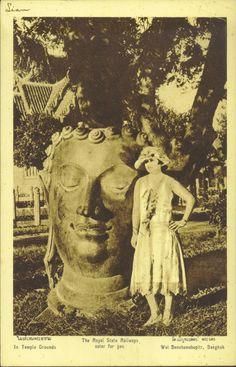 ภาพถ่ายความเป็นไทยในอดีต Photo Postcards, Vintage Postcards, Vintage Photos, Old Pictures, Old Photos, Thailand History, Photo Memories, Angkor, Buddha